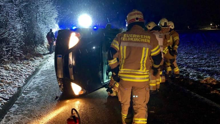 Verkehrsunfall auf der Flughafen Umfahrung
