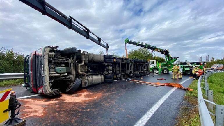 Schwerer LKW Unfall A2-A9 Rampe Slowenien