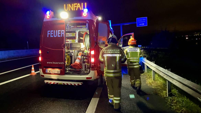 Verkehrsunfall A2 Knoten Graz Ost